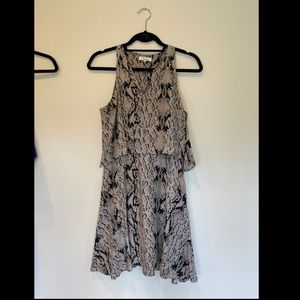Grey snakeskin silk Parker dress